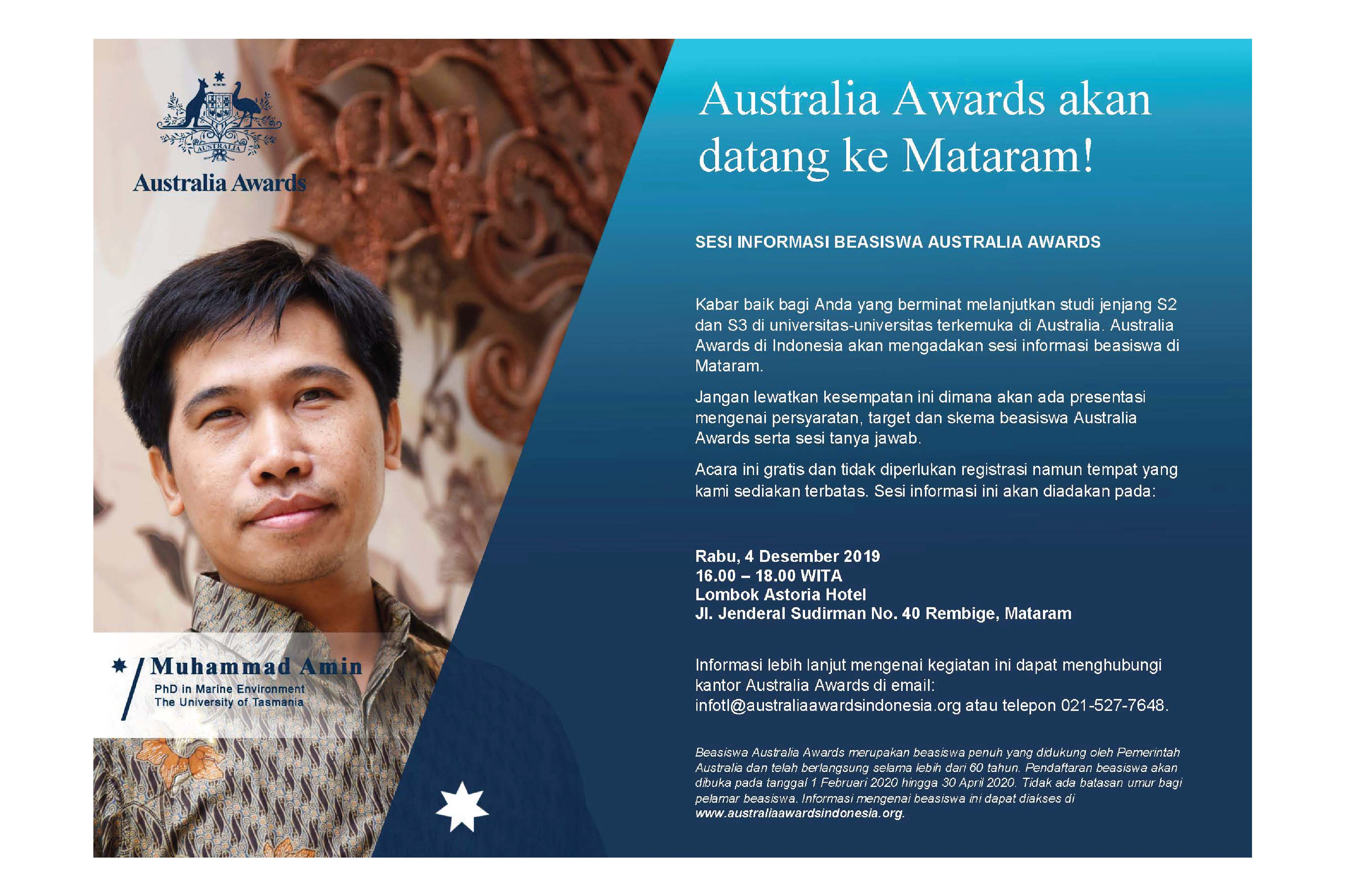 Australia Awards Postgraduate Scholarships Info Session in Mataram